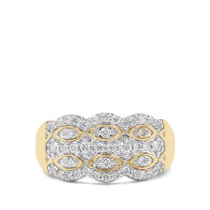 1/2ct Argyle Diamond 9K Gold Ring