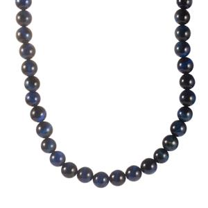 314.80ct Blue Tiger's Eye Sterling Silver Necklace