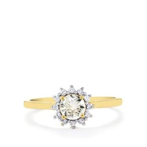 Ratanakiri Zircon Ring in 10k Gold 0.91cts