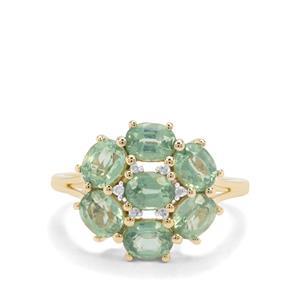 Odisha Kyanite & Diamond 9K Gold Ring ATGW 3.07cts