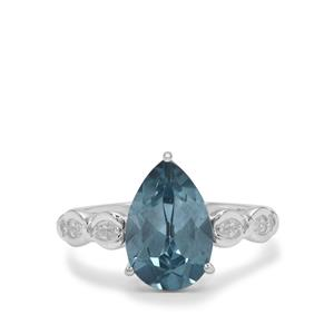 Versailles Topaz Ring with White Zircon in Sterling Silver 3.45cts