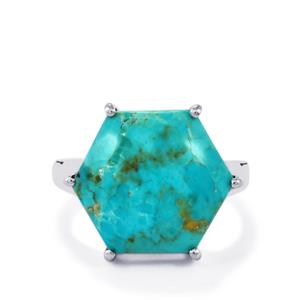 Cochise Turquoise Ring in Sterling Silver 9.39cts