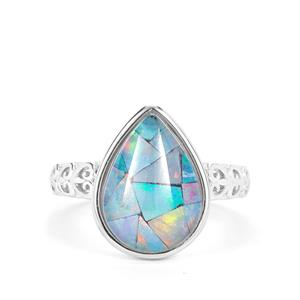 Mosaic Opal Ring in Sterling Silver