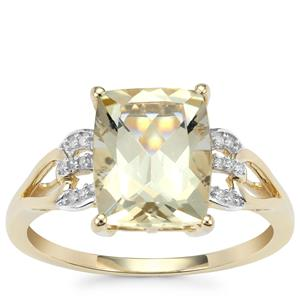 Serenite Ring with Diamond in 9K Gold 2.80cts