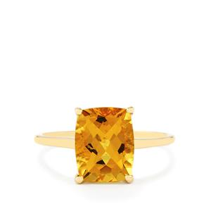 2.72ct Xia Heliodor 10K Gold Ring