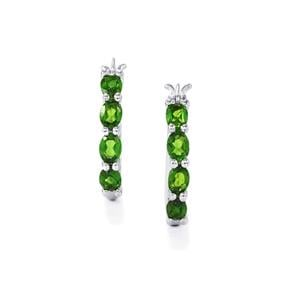 Chrome Diopside Earrings in Sterling Silver 1.38cts