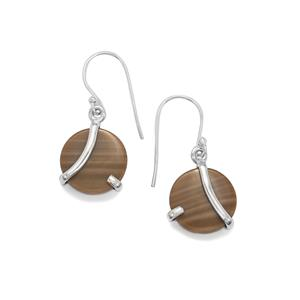 Cappuccino Flint Earrings in Sterling Silver 11cts