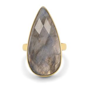 Paul Island Labradorite Ring in Gold Plated Sterling Silver 1855cts