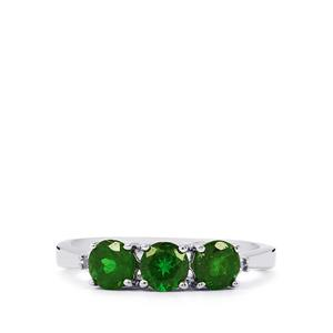 Chrome Diopside & Diamond Sterling Silver Ring ATGW 1.13cts