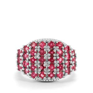 Cruzeiro Rubellite Ring in Sterling Silver 2.16cts