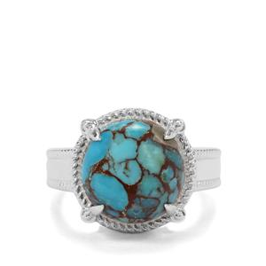 6.81ct Egyptian Turquoise Sterling Silver Ring