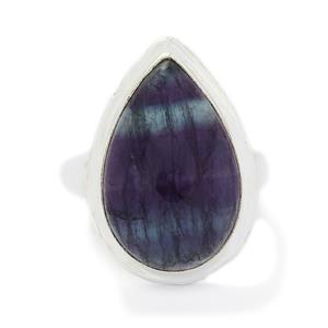 19.40ct Argentine Rainbow Fluorite Sterling Silver Aryonna Ring