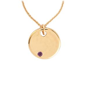 0.10ct Amethyst Rose Gold Vermeil Pendant Necklace