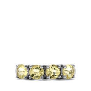 1.76ct Citron Feldspar Sterling Silver Ring