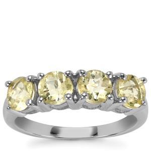 Citron Feldspar Ring in Sterling Silver 1.76cts