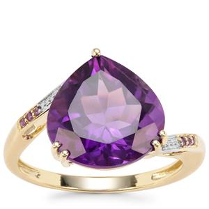 Zambian Amethyst Ring in 9K Gold 5.11cts