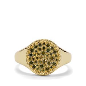 1/2ct Green Diamond Midas Ring