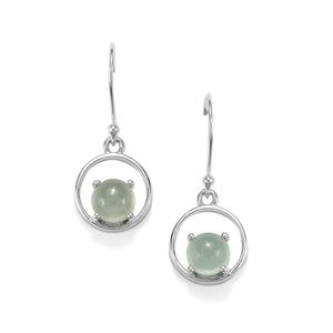 Aquamarine Earrings in Sterling Silver 2.93cts