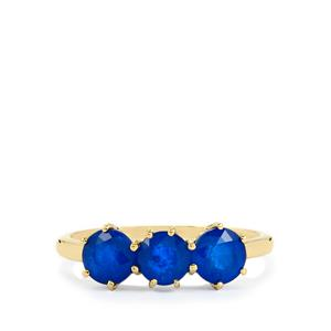Santorinite™ Blue Spinel Ring  in 10k Gold 1.90cts