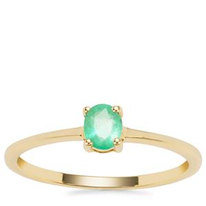 Colombian Emerald Ring in 9K Gold 0.32cts
