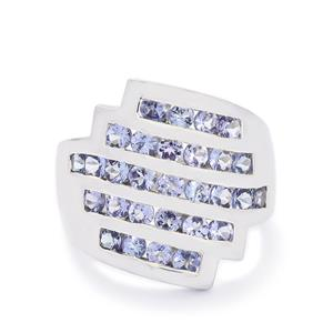 2.33ct AA Tanzanite Sterling Silver Ring