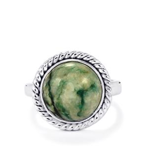 Siberian Mariposite Ring in Sterling Silver 6.14cts