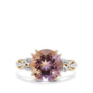 Anahi Ametrine Ring with Diamond in 10k Gold 3.50cts