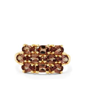 Bekily Color Change Garnet Ring  in 10k Gold 3.05cts
