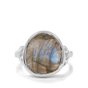 7.85ct Labradorite Sterling Silver Ring