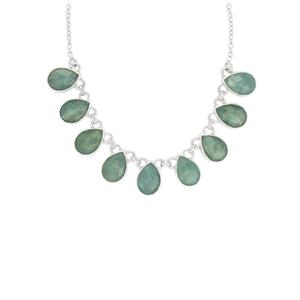 Aquamarine Necklace in Sterling Silver 45cts