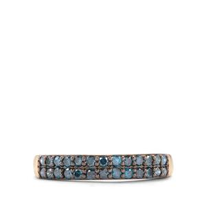 1/2ct Blue Diamond 9K Gold Ring