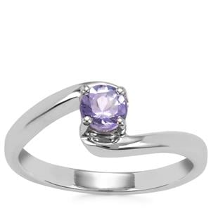 Tanzanite Ring in Sterling Silver 0.41ct