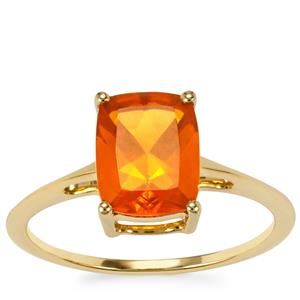 AAA Orange American Fire Opal Ring in 9K Gold 1.48cts