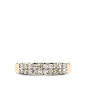 Natural Yellow Diamond Ring in 18k Gold 0.51ct