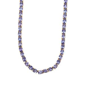 AA Tanzanite Necklace in 9K Gold 27.93cts
