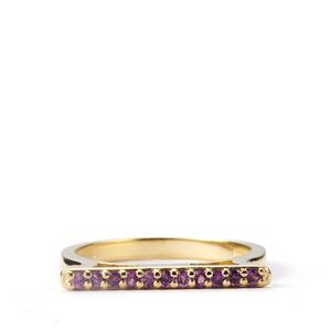 Garnet Bridge Mini Stacking Ring in Gold Vermeil 0.25ct