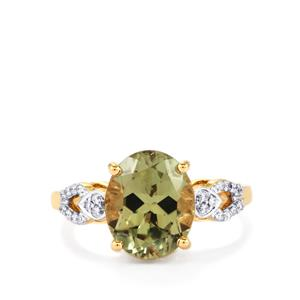 Csarite® Ring with Diamond in 18k Gold 4.29cts