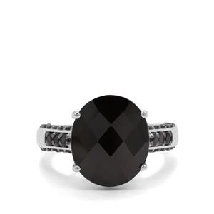 8.18ct Black Spinel Sterling Silver Ring