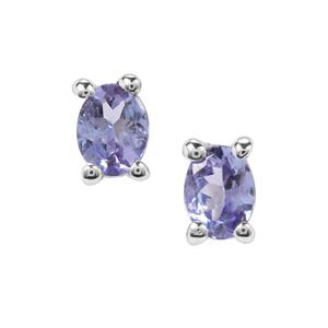 0.35ct A Grade Tanzanite Sterling Silver Earrings