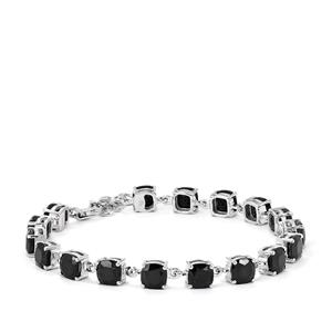 Black Spinel Bracelet  in Sterling Silver 22cts