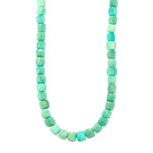 188ct Amazonite Sterling Silver Graduated Bead Necklace