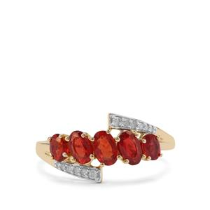Songea Ruby & Diamond 9K Gold Ring ATGW 1.46cts