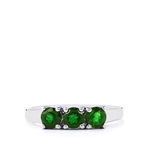 Chrome Diopside Ring in Sterling Silver 1cts