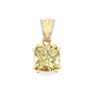 Csarite® Pendant in 9K Gold 1.70cts