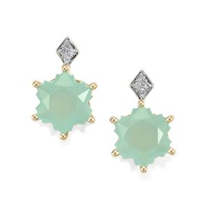 Aquaprase™ Wobito Snowflake Earrings with Diamond in 10K Gold 4.17cts