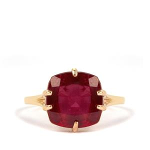 Thai Ruby Ring in 9K Gold 6.24cts