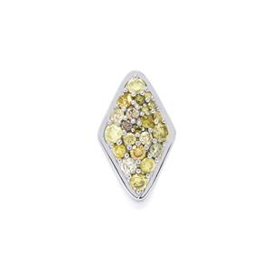 1/2ct Natural Fancy Diamond Sterling Silver Pendant