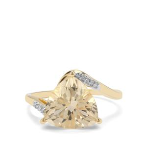 Serenite Ring with White Diamond in 9K Gold 3.69cts