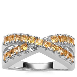 Golden Tourmaline Ring in Sterling Silver 0.86ct