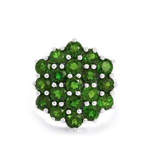 5.67ct Chrome Diopside Sterling Silver Ring